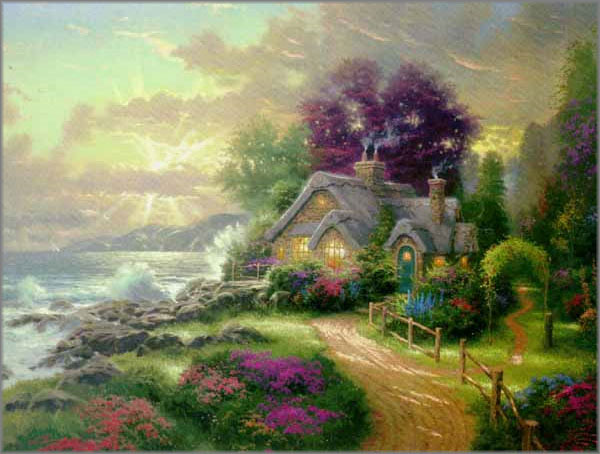 A New Day Dawning (Romance of the Sea I) by Thomas Kinkade 25½x34