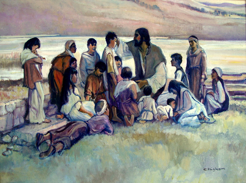Иисус молится за детей