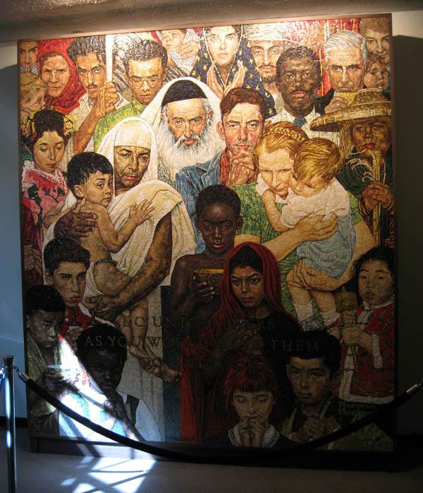 Мозаика в здании ООН, Нью-Йорк
