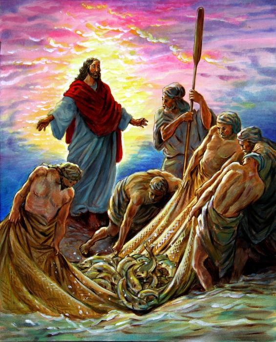 Jesus appears to the fishermen