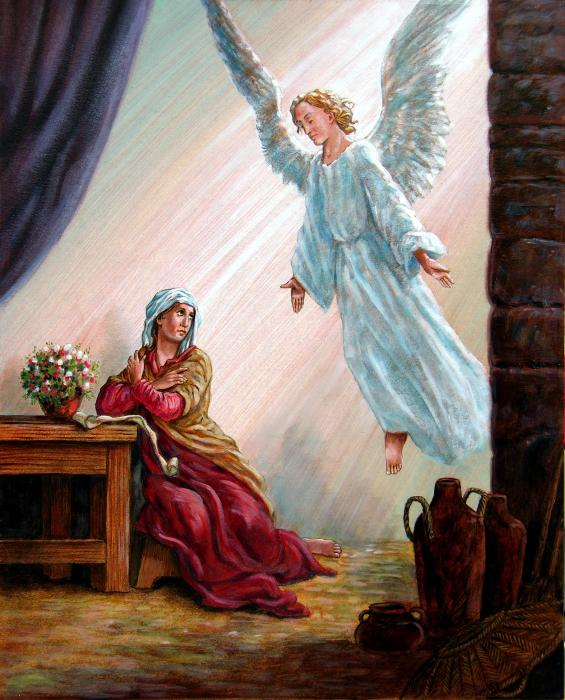 Mary and angel